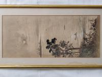 Three Japanese original ink/ watercolour lanscape paintings circa mid. 20th Century (18 of 20)