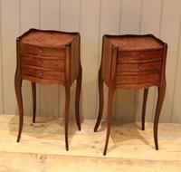 Pair of Mahogany Inlaid Bedside Cabinets (8 of 10)