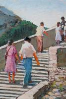 Figures on a Spanish Bridge by Thomas Pote (4 of 6)