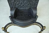 Antique Brass & Cast Iron Fire Basket (4 of 10)