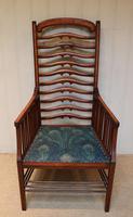 Arts And Crafts Mahogany Ladder Back Armchair