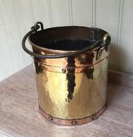 Late 19th Century Brass & Copper Bucket (3 of 9)