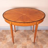 Inlaid Oval Satinwood Occasional Table (2 of 15)