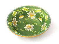 Fine Japanese Green Cloisonné Orchid Bowl (4 of 5)