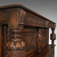 Antique Court Cabinet, English, Oak, Sideboard, Credenza, Jacobean Revival, 1890 (10 of 12)
