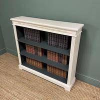 Antique Victorian Painted Open Bookcase (3 of 6)