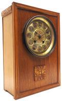 Antique German Arts & Crafts Mantel Clock Carved Detail 8 Day Mantle Clock (9 of 9)