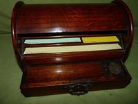 Compact Figured Oak Roll Top Stationery Box. c1900 (5 of 14)