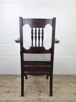 Antique Edwardian Mahogany Commode Armchair (9 of 9)