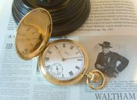 Antique Pocket Watch 1909 Waltham USA 7 Jewel 10ct Gold Filled Fwo (3 of 11)