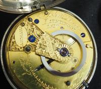 Antique Silver Pair Case Pocket Watch Fusee Escapement Key Wind Enamel Dial John Bernard London Liverpool (10 of 12)