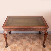 Superb Quality Mahogany Chippendale Design Writing Table (4 of 23)