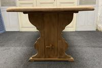 Bleached Oak Refectory Farmhouse Dining Table (10 of 13)