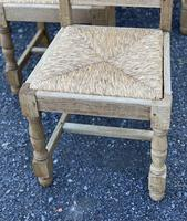 Set of 6 French Bleached Oak Farmhouse Dining Chairs (10 of 13)