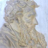 Pair of 19th Century Plaster Relief Plaques, Titled 'Petrus' & 'Paulus' (5 of 7)
