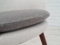 Danish Design, Hans Olsen, Completely Renovated-reupholstered Armchair 1960s, KVADRAT Wool & Teak (8 of 14)