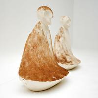 Pair of Distressed Clay  Sculptures  Vintage 1960's (8 of 10)