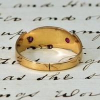 The Victorian 1892 Four Pearl & Ruby Ring (4 of 4)