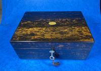 Victorian Coromandel Box with Mother of Pearl Escutcheons (6 of 14)