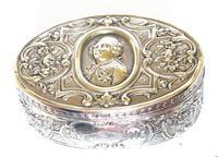 Delightful and Decorative Dutch Silver Oval Box