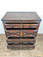 Antique Geometric Oak Chest of Drawers (3 of 10)