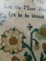"""Large Antique Needlework Sampler 1835 Mary Ann Fulcher 13yrs in Frame 14"""" x 19"""" (8 of 12)"""