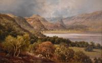 "Oil Painting by Edward Henry Holder ""Scene in the Lake District"" (3 of 5)"