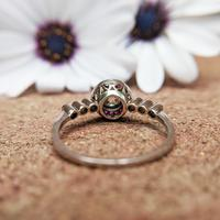 Antique Art Deco Platinum Old Cut Diamond & Ruby Target Ring c.1925, Engagement Ring (6 of 6)