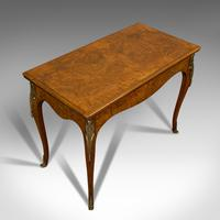Antique Card Table, French, Burr Walnut, Fold Over, Games, Victorian c.1870 (9 of 12)