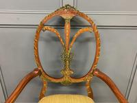 Painted Satinwood Armchair by Jas Shoolbred (4 of 14)