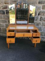 Antique Heals Oak Dressing Table & Stool (8 of 12)
