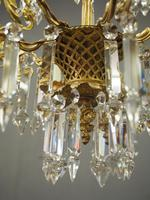 Edwardian Gilded and Glass Chandelier (5 of 13)
