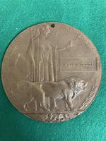 South Wales Border Private William Scott Medals & Death Plaque (8 of 10)