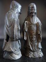 Pair of Late 18th or Early 19th Century Chinese Tomb Figures of Deities (4 of 5)