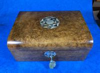 Victorian Walnut Jewellery Box with Inlay (11 of 15)