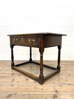 Antique Georgian Oak Side Table (7 of 10)