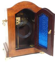 Incredible Solid Mahogany Cased Mantel Clock with Bone Inlay by James Weir (4 of 10)