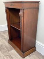 English Small Regency Style Dwarf Recessed Mahogany Open Bookcase (4 of 44)