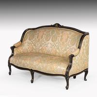 Fine Mid 19th Century Ebonised Mahogany Sofa (4 of 6)
