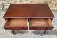 Antique Victorian Mahogany Two Drawer Side Table (5 of 20)