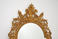 Large Mid Century French Carved Giltwood Mirror (2 of 10)