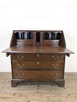 Early 19th Century Oak Fall Front Bureau (3 of 10)
