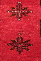 Handmade Bokhara wool rug vibrant red ground (10 of 11)