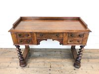 Antique Mahogany Desk with Barley Twist Supports (6 of 13)