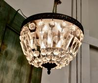 French Empire Style Crystal Basket Chandelier (3 of 19)