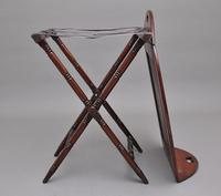Early 19th Century Mahogany Folding Butlers Tray on Stand (10 of 10)