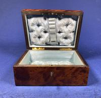 Victorian  French Burr Cedar Jewellery Box with Original Interior (4 of 9)