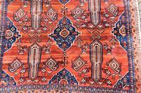 Old Afshar Carpet 305x209cm (6 of 9)