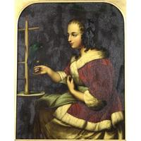 'A Young Woman in a Red Jacket Feeding a Parrot, 1663', (2 of 9)