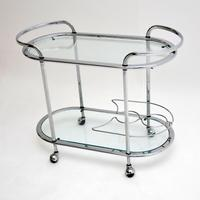 1960's Vintage French Chrome Drinks Trolley (2 of 8)
